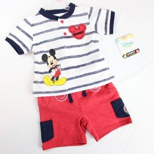 Disney Baby Mickey Mouse Baby Boy 2 Piece Outfit